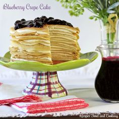 I love making crepes and especially that they can be sweet or savory. Today I'm doing a dessert with them that has a cream cheese filling and a blueberry topping. Blueberry Crepe Cake Hi everyone, Blueberry Crepes, Blueberry Trifle, Blueberry Topping, Cake Recipes, Dessert Recipes, Desserts, Fruit Recipes, Recipies, Best Cauliflower Pizza Crust