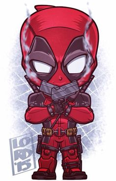 Chibi Deadpool by Lord Mesa Chibi Marvel, Marvel Vs, Marvel Dc Comics, Marvel Heroes, Chibi Superhero, Ultron Marvel, Deadpool Wallpaper, Marvel Wallpaper, Deadpool Animated