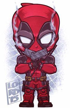 Chibi Deadpool by Lord Mesa Chibi Marvel, Marvel Art, Marvel Dc Comics, Marvel Heroes, Marvel Avengers, Chibi Superhero, Ultron Marvel, Deadpool Wallpaper, Marvel Wallpaper