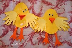 Easter Chick Handprint Craft Using Your Childs Handprints Easter Crafts Preschool Easter Arts And Crafts, Bunny Crafts, Spring Crafts, Holiday Crafts, Easter Story, Preschool Crafts, Kid Crafts, Preschool Ideas, Craft Ideas