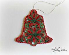Campana de papel quilling de árbol la navidad por PaperArtbyAda