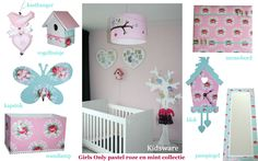 Kidsware accessoires in de pastelkleuren roze en mint. www.kids-ware ...
