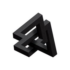 Graphic Design Goodies . Fresh new inspiration everyday . Black Triangle . Impossible geometry .