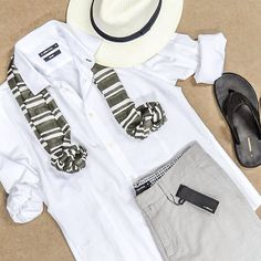 """""""Stay cool this weekend in #WCollection. #summer #WoolworthsMen #menswear #white #panama #shorts #woolies"""""""