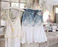 Love that denim skirt!