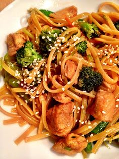 Teriyaki Chicken Noodle Bowl recipe, a one pot stir fry meal, with prepared mixed veggies.
