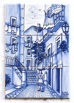 Tiles in Lisbon, Rua do Chão da Feira, Alfama