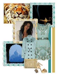 """Jasmine"" by srta-sr ❤ liked on Polyvore featuring Retrò, American Eagle Outfitters, Burberry, TFNC, Roberto Cavalli, Giuseppe Zanotti and Aesa"