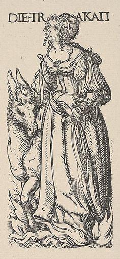 Sloth (Die Trakait), from The Seven Vices, in Holzschnitte alter Meister gedruckt von den Originalstöcken der Sammlung Derschau im besitz des Staatlichen Kupferstich-kabinetts zu Berlin