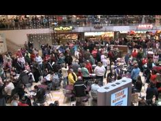 Over 200 singers helped in this awesome food court flash mob!! This took place at the Burnsville Center in Burnsville Minnesota. This flash mob was organized by Prince of Peace Lutheran Church!
