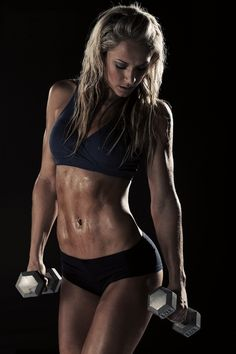 abs, fit, dumbbells - #female-body-appreciation