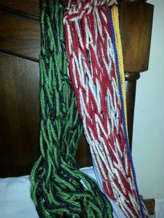 30 min arm knitting scarf