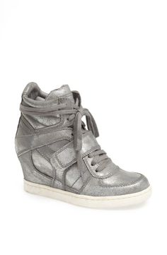 Cool. Silver Wedge Sneaker.