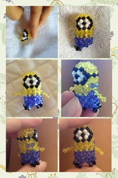 bee...doo...bee...doo.... #3d beading #beaded #minion #despicable me