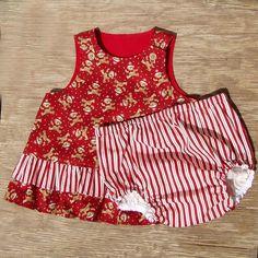 Winter Bears 2 Pc Baby Girl Set Size 6 months by ArtsyCrafty, $21.00