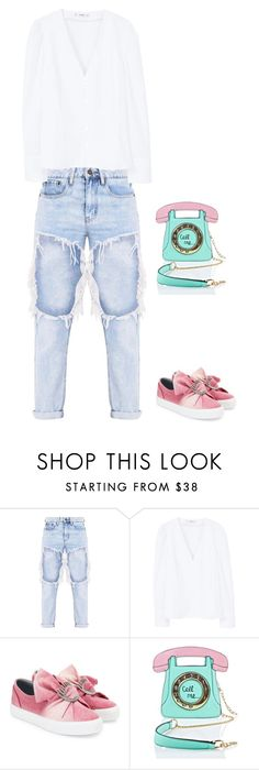 """""""Untitled #164"""" by tired-unicorn ❤ liked on Polyvore featuring MANGO, Chiara Ferragni and 3 AM Imports"""