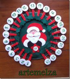 Calendário Natal com 25 dias.