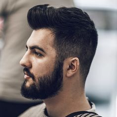 nice 70 Sexy Hairstyles For Men - Be Trendy in 2017 Mens Hairstyles Fade, Latest Hairstyles, Hairstyles Haircuts, Hair And Beard Styles, Curly Hair Styles, Pompadour Fade, Beard Fade, Faded Hair, Short Beard