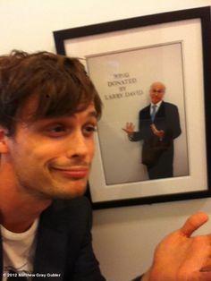 2 pf my fav men... Matthew Gray Gubler & larry david!! haha