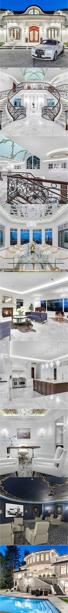 Swipe left to see more of this Stunning home for sale in Vancouver for million by The foyer of the my previous post belongs to this Home sweet Home… couldn't resist not to show the complete Interior of this Beautiful Home❣ Whats your Luxury Life, Luxury Living, Luxury Homes, Dream Mansion, House Goals, Life Goals, Architecture, My Dream Home, Future House