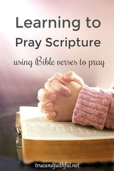 Praying scripture deepens our prayers and helps us pray God's will. Learn how to pray scripture. Praying scripture deepens our prayers. Praying the Bible helps us pray God's will. Freshen your prayers by learning to pray scripture. Prayer Times, Prayer Scriptures, Bible Prayers, Bible Verses, Bible Quotes, Scripture Study, Bible Study On Prayer, The Bible, Qoutes
