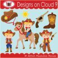 Designs on Cloud 9 Cute Cowboy SVG and cutting files