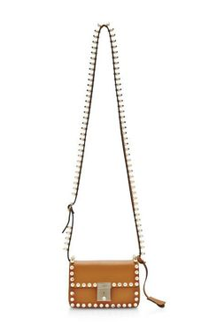 Rockstud Pearls and Leather Shoulder Bag by Valentino Now Available on Moda Operandi