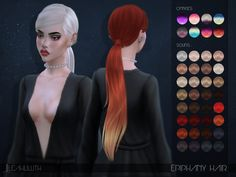 Epiphany Hair  Found in TSR Category 'Sims 4 Female Hairstyles'