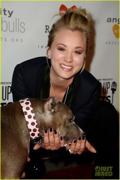 Celeb Diary: Kaley Cuoco & Ryan Sweeting @ Stand Up For Pits She loves her PitBulls...so I love her ♥