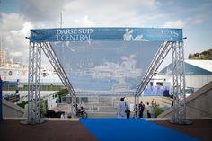 Monaco Yacht Show - bâche grille