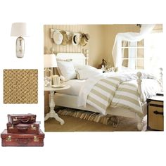 Décor accents for an inviting beachy style bedroom.