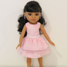 Hearts for Hearts Doll Clothes  Pink and White by AmericAnnMade, $13.00