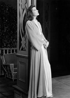 Katharine Hepburn in the stage production of The Philadelphia Story, 1939