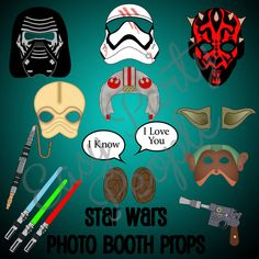 Star Wars Photo Booth Props by EasyPartyPeople on Etsy