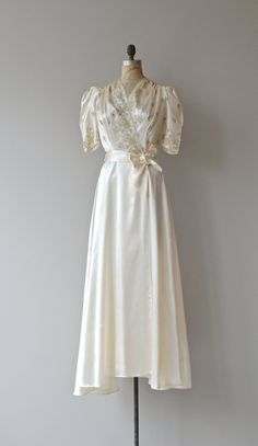 Chryselephantine gown vintage 1930s wedding dress by DearGolden