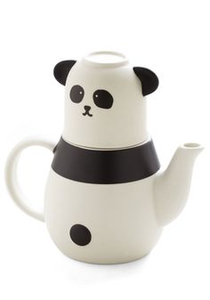 All That Panda Cup of Tea Set. Your cup collection is already wildly winsome, and this panda tea set only heightens its charm! #white #modcloth