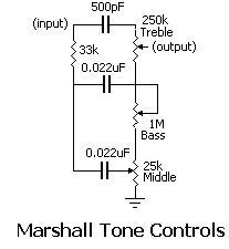 Marshall Tone Circuit - Diy and Crafts Simple Electronics, Electronics For You, Electronics Basics, Electronic Circuit Projects, Electrical Projects, Electronic Engineering, Valve Amplifier, Audio Amplifier, Guitar