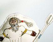 Greek Mythology Art Doll. Poseidon. Interactive magnetic storytelling figure from The Handmade Classroom on Etsy