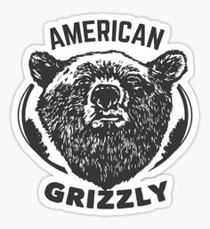 T-shirt American Grizzly Sticker