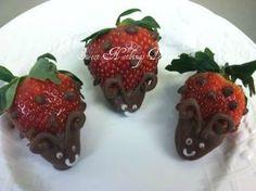 Ladybug baby shower strawberries