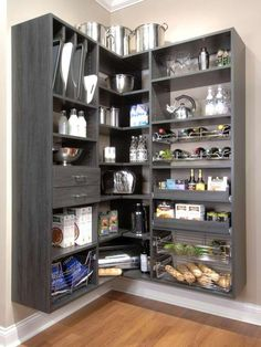 Pantry  - would work in my closet.  Like the lay-out minus the baking sheet storage.