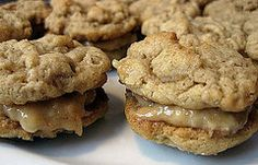 Healthy Treat: Peanut Butter Oatmeal Sandwich Cookies