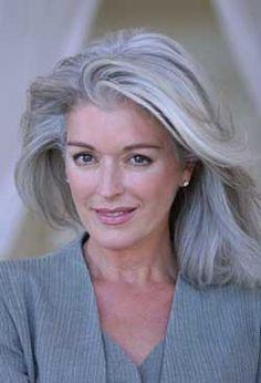 Gray Hair and beautiful face.