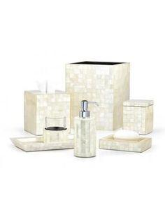 Capiz Ivory Vanity Set
