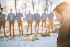 Love this shot - Woodsy Colorado Wedding by We Are the Parsons - via ruffled