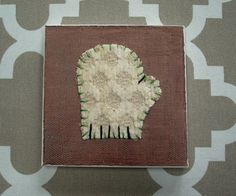 Tiny Mitten #1 Fabric Wall Art by CottonwoodCove on Etsy