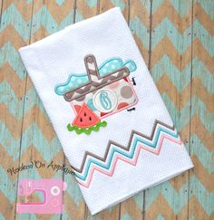 Picnic Basket--HOA from Applique Forum Kitchen Towels, Chevron, Basket, Embroidery, Sewing, Tableware, Fun, Kitchen Designs, Monograms
