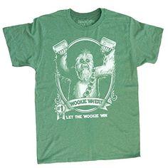 Saint Patricks Day Star Wars Shirt Mens T-Shirt Chewbacca Wookiee Chewie - Green - Small @ niftywarehouse.com #NiftyWarehouse #Geek #Products #StarWars #Movies #Film
