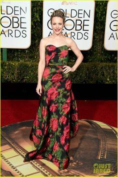 Rachel McAdams Goes Floral At Golden Globes 2016!   rachel mcadams goes floral at golden globes 2016 02 - Photo