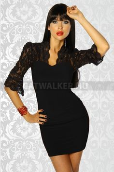 Alkalmi ruha 12436 - fekete Sexy, Bodycon Dress, Lingerie, Formal Dresses, Black, Young Fashion, Html, Mini, Dressing Rooms